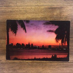 Vintage Wall Art - Vintage Miami Florida Souvenir Travel Postcard